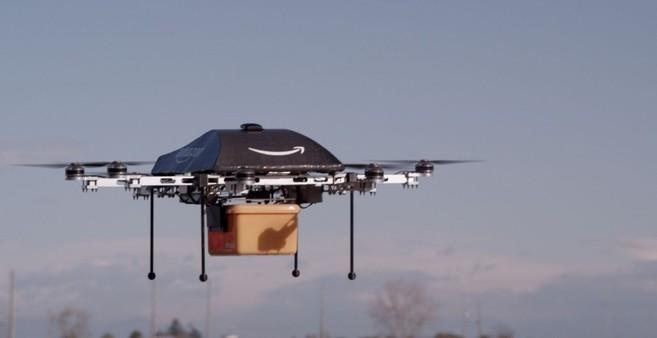Drones para reparto en Amazon